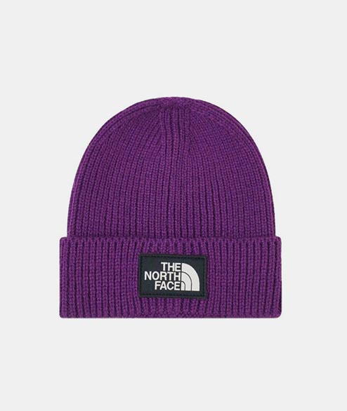 The North Face - Box Logo Cuff Beanie - Peak Purple