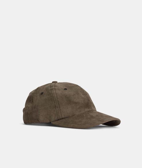 Norse Projects - Fake Suede Sports Cap - Dried Olive