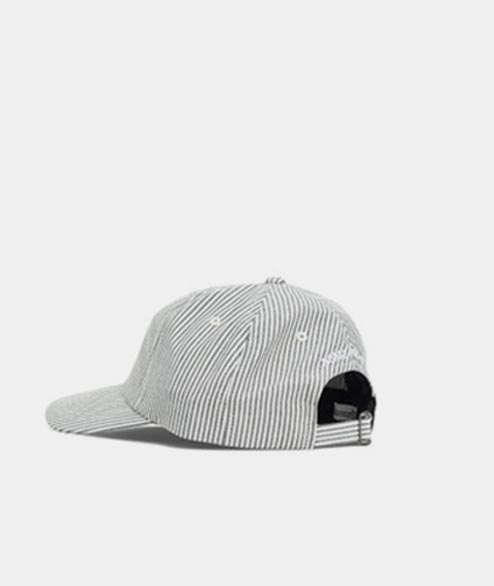 Norse Projects - Seersucker Sports Cap - Navy Sripe