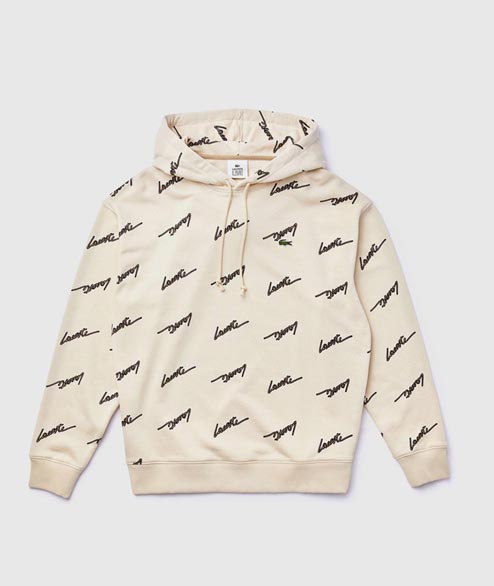 Lacoste Live - Lacoste Print Hooded - Beige