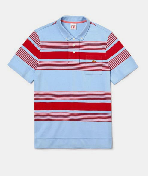 Lacoste Live - LL X OC Striped Polo - Blue Red