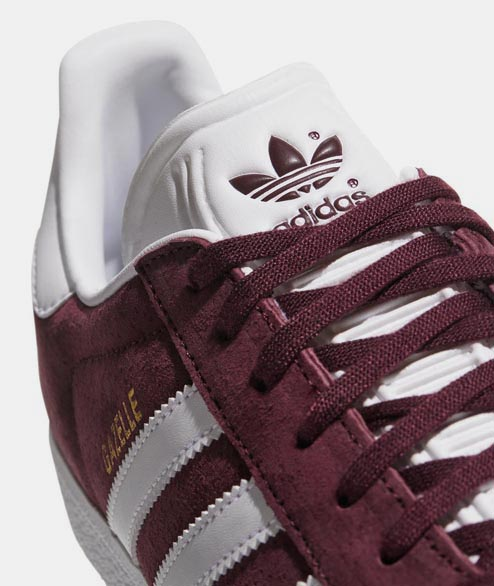 Adidas originals - Gazelle - Burdundy White Gold