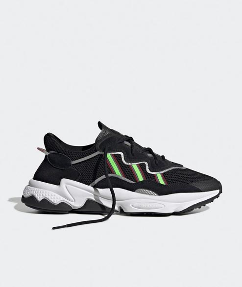 Adidas originals - Ozweego - Black Solar Green