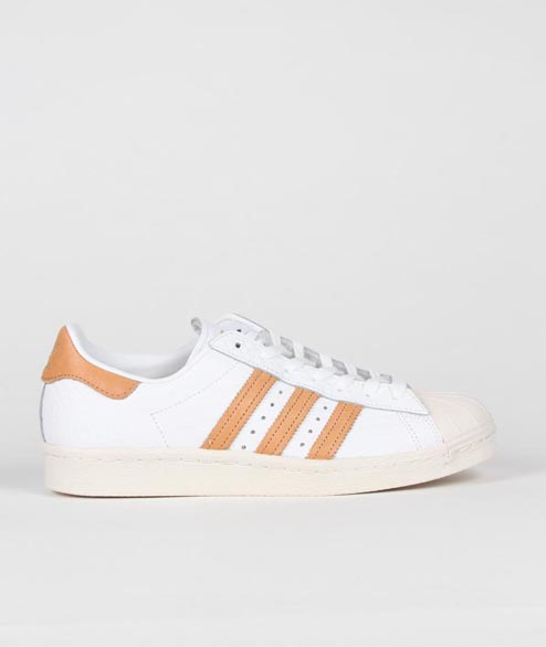 Adidas originals - Superstar 80s - White Gold
