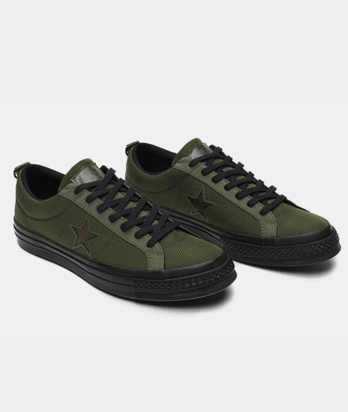 Converse - One Star X Carhartt Wip - Herbal Medium Olive Blac