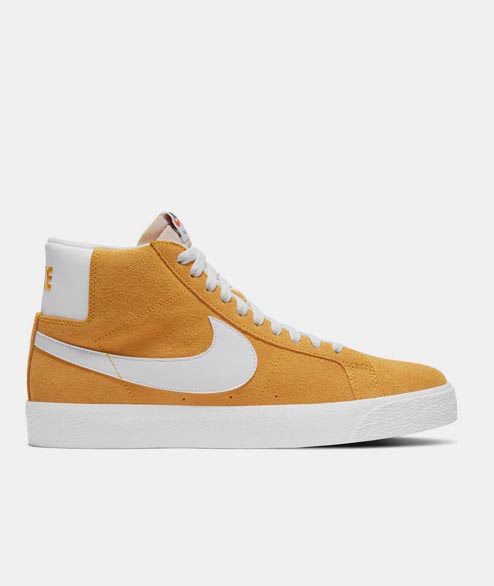 Nike SB - Blazer Mid - Gold White University Red