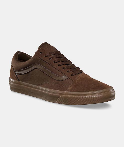 Vans - Old Skool - Herringbone Dark Earth Brown