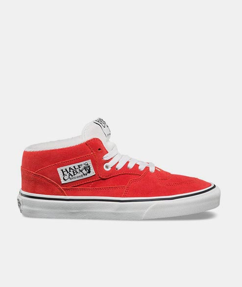 Vans - Half Can Suede - Hibiscus True White