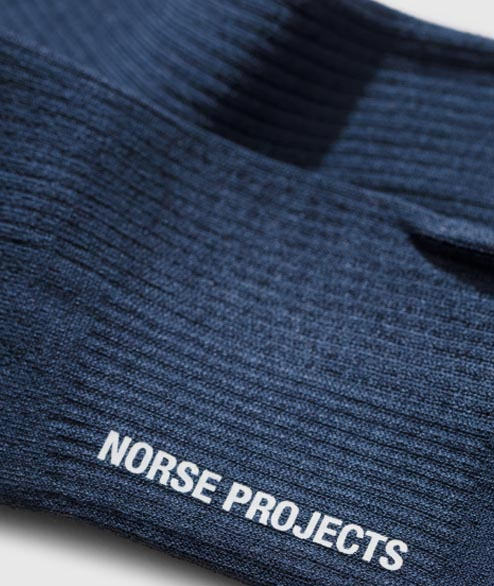 Norse Projects - Bjarki Mercerized Rib - Navy