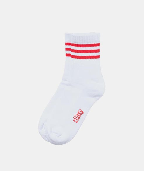 Stussy - Clean Stripe Socks - Red