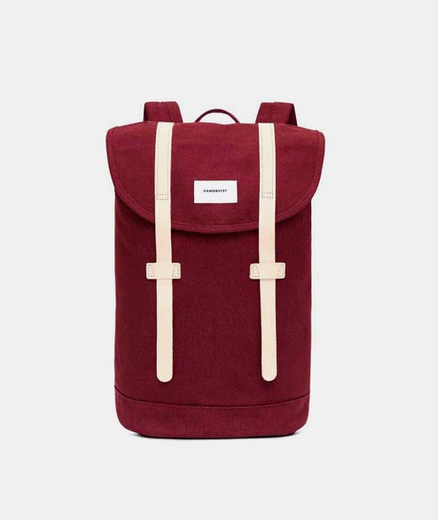 Sandqvist - Stig - Burgundy Natural Leather