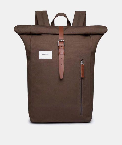 Sandqvist - Dante - Olive Cognac Brown Leather