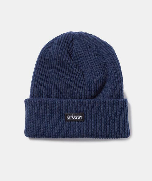 Stussy - Small Patch Watchcap Beanie - Navy