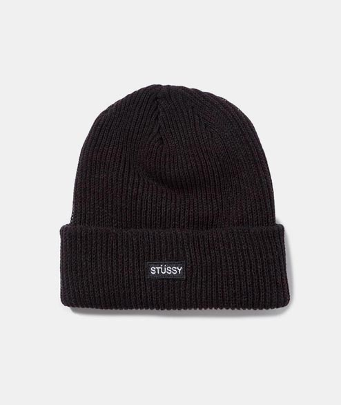 Stussy - Small Patch Watchcap Beanie - Black