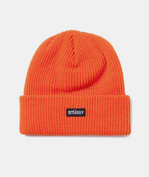 Stussy - Small Patch Watchcap Beanie - Orange