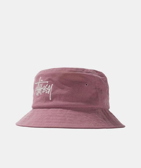 Stussy - Big Logo Canvas Bucket Hat - Rose