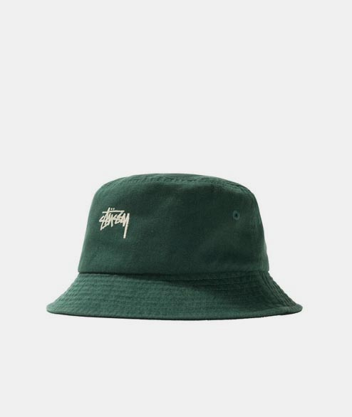 Stussy - Stock Bucket Hat - Green
