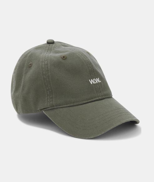 Wood Wood - Low Profile Cap - Dark Green