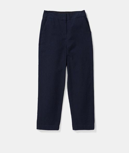 Norse Projects - W Janna Seersucker - Dark Navy