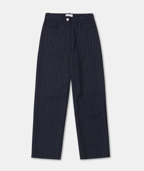 Wood Wood - W Althea Trousers - Navy Stripe