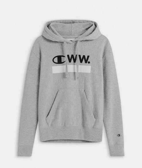 Champion by Wood Wood - W Niki Hoodie - Grey Melange