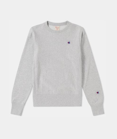 Champion - W Reverse Weave Crewneck - Heather Grey