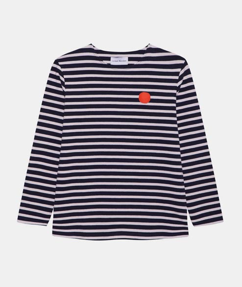Loreak - W Boatneck Punto Sweat - Ecru Navy