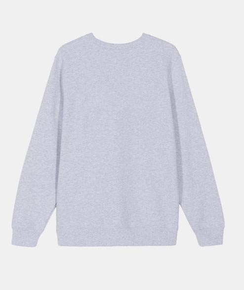 Stussy - W Stock Logo Crewneck - Ash Heather