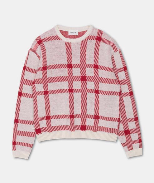 Wood Wood - W Caitlin Sweater - Red Off White Check