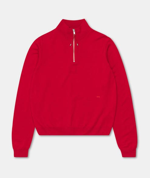 Wood Wood - W Abigail Sweater - Red