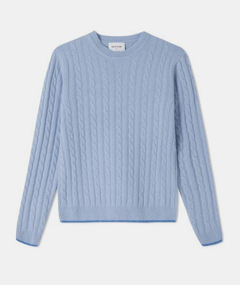 Wood Wood - W Mare Sweater - Light Blue