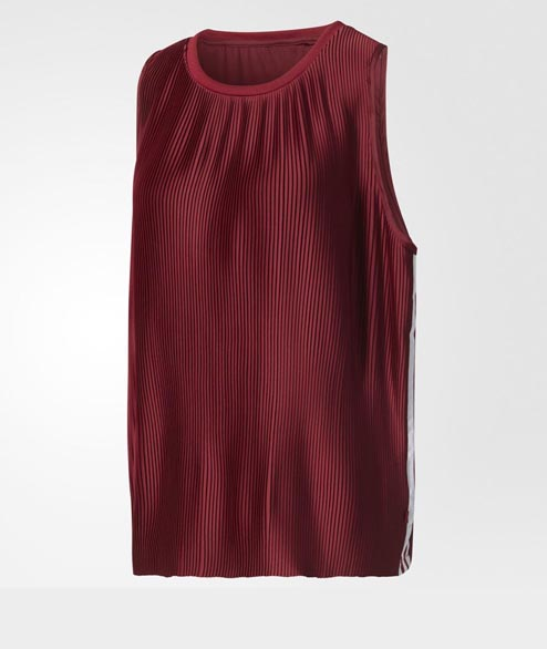 Adidas originals - W 3 Stripes Tank - Burgundy