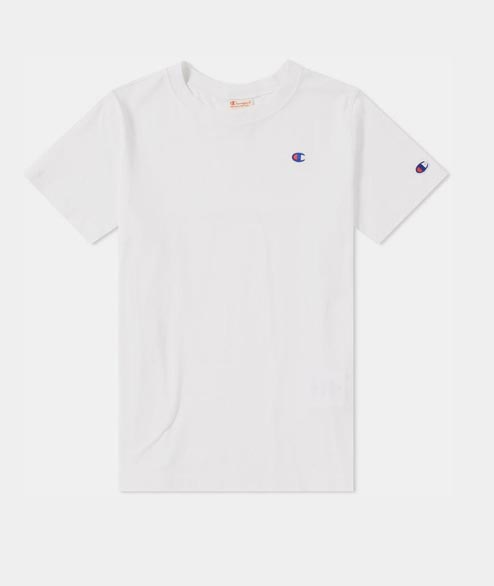 Champion - W Crewneck Tee - White