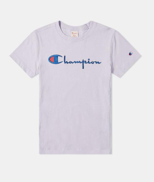 Champion - W Crewneck Tee Shirt - Liliac