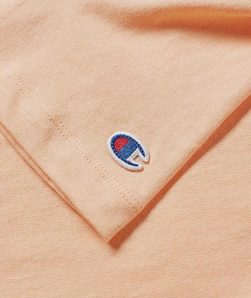 Champion - W Crewneck Tee - Peach