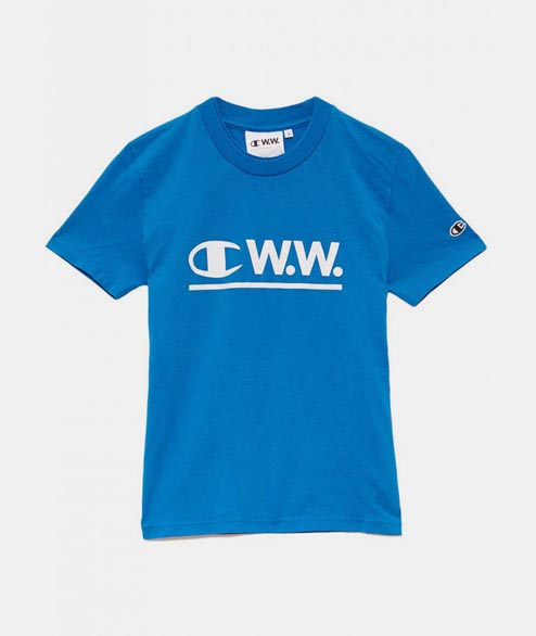 Champion by Wood Wood - W Evalyn T Shirt - Blue