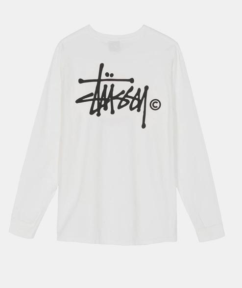 Stussy - W Basic Logo Tee LS - Pigment Dyed Natural