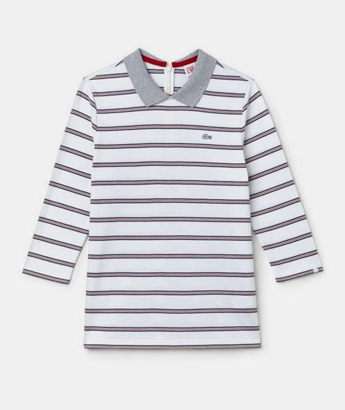 Lacoste Live - W Marine Stripe Polo - White Navy Red