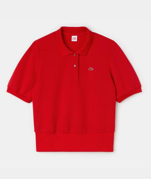 Lacoste Live - W Cropped Polo - Red