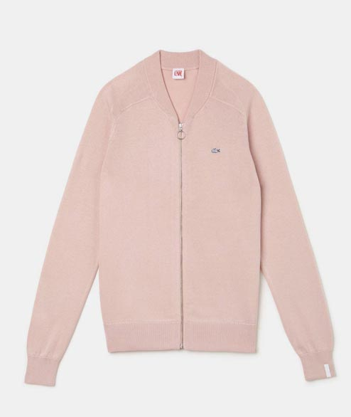 Lacoste Live - W Zip Cardigan - Light Pink