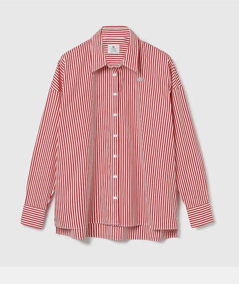 Lacoste Live - W Striped Shirt - Red White