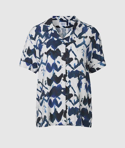 Libertine Libertine - W Page Shirt - Blue White Navy