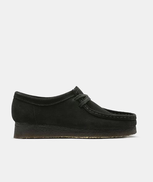 Clarks Originals - W Wallabee - Black Suede