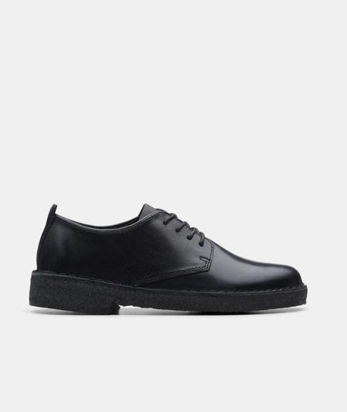 Clarks Originals - W Desert London - Black Polished