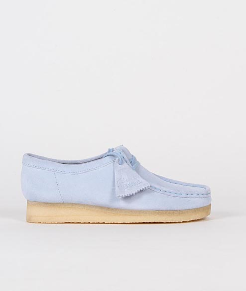 Clarks Originals - W Wallabee - Pastel Blue Suede