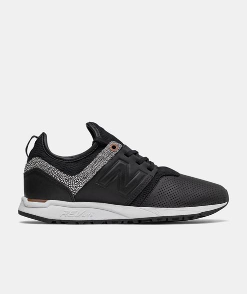 New Balance - WRL247 GY - Black Grey Leather