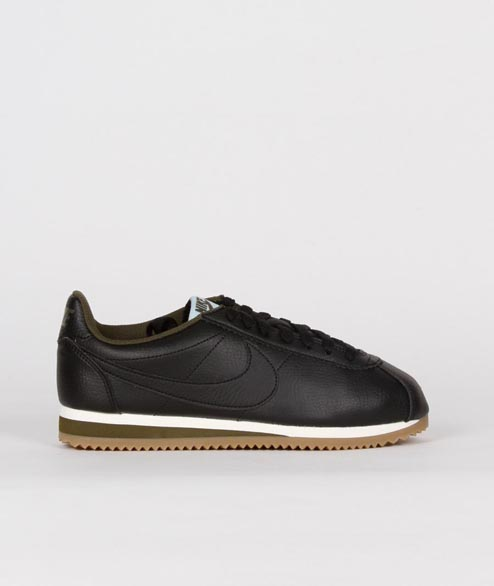 Nike Sportswear - W Classic Cortez Leather - Black Legion Green