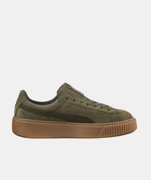 Puma - w Suede Platform Animal - Olive Night