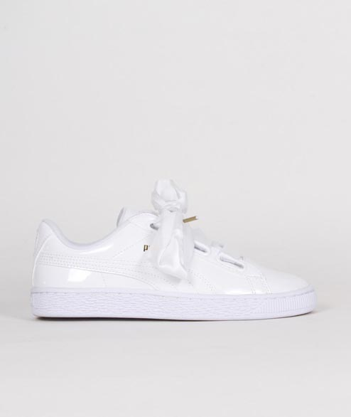 Puma - W Basket Heart  Patent - White