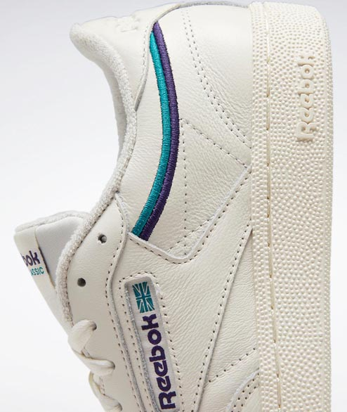 Reebok - W Club C 85 - Chalk Orchid Teal